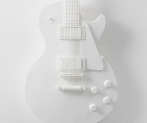 white and guitar image