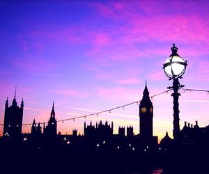 beautiful, london, and sky image