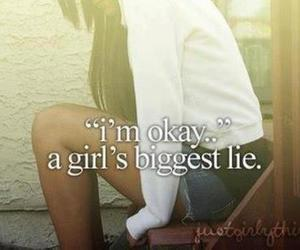 girl, lies, and quotes image