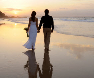 beach, light, and love image