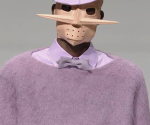 avant-garde, bow tie, and catwalk image