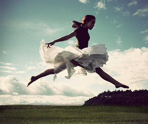 girl, fly, and jump image