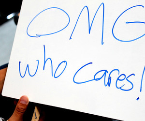 OMG and who cares image