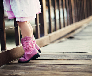 adorable, boots, and pink boots image