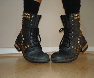 boots, shoes, and rock image