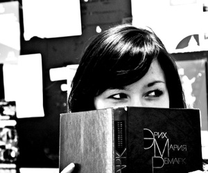 book, dark hair, and girl image
