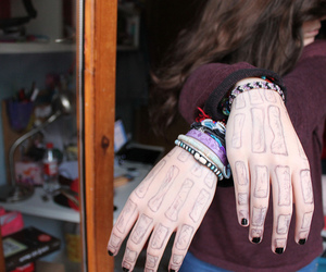 awesome, girl, and hands image