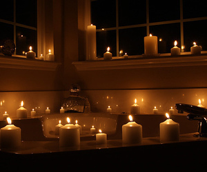 candle, bath, and luxury image