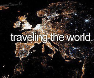 world, travel, and traveling image