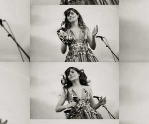 actress, black and white, and singer image