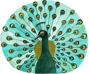 drawing, peacock, and art image