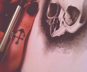 draw, scketch, and scull image