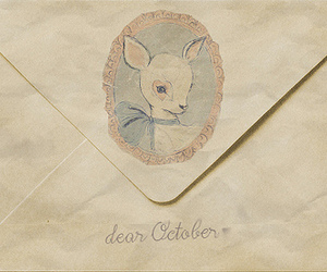 dear, drawing, and envelope image
