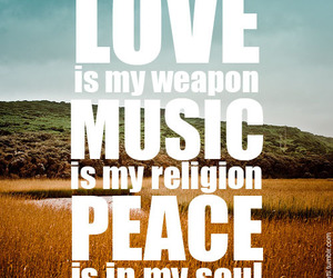 music, love, and peace image