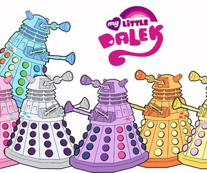 my little pony and Dalek image