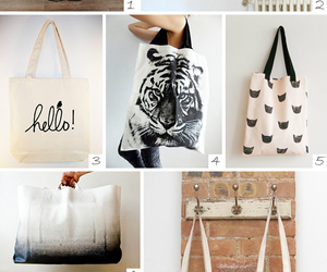 bags, canvas, and cats image
