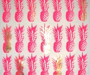pink, pineapple, and fruit image