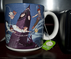 peter pan, disney, and cup image