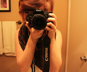 girl, camera, and canon image