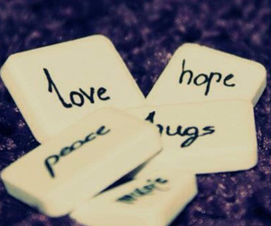 hugs, peace, and love image