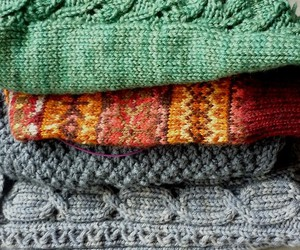 autumn, bunch, and cardigan image