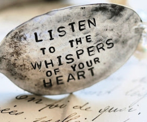 heart, listen, and quote image