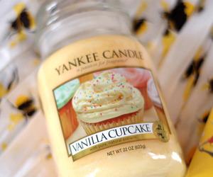 candle, cupcake, and vanilla image