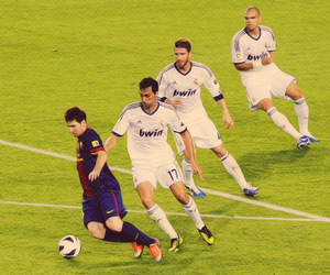 real madrid and messi image