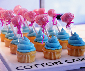 cupcake, food, and cotton candy image