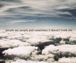 clouds, people, and quote image