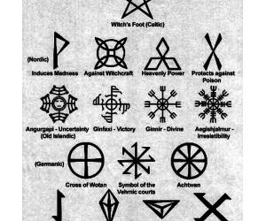 metal, pagan, and rune image