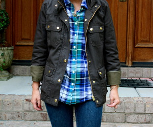 blonde, flannel, and plaid image