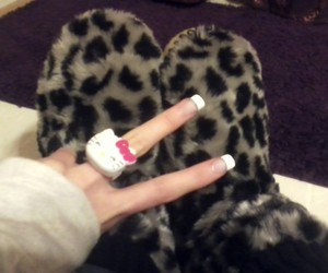 girly, hello kitty, and slippers image