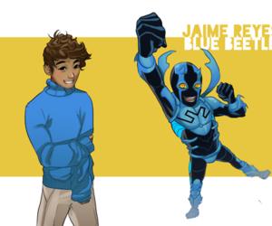 dc comics, blue beetle, and jaime reyes image