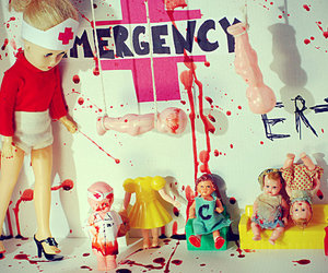 emergency, baby, and blood image