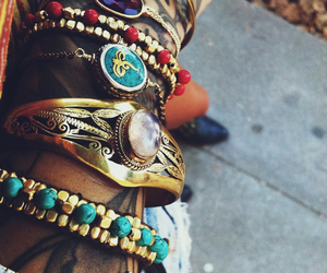 bracelet, tattoo, and hipster image