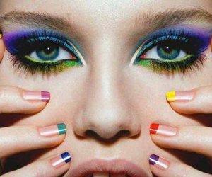 eyes, nails, and make up image