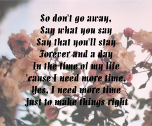 Lyrics, oasis, and dont go away image
