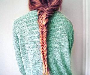 braid, brunette, and explore image