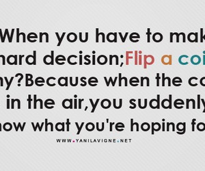 quote, flip a coin, and coin image