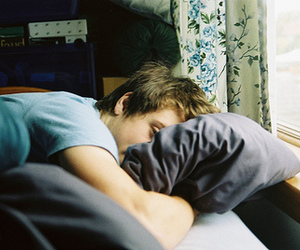 boy, bed, and sleep image