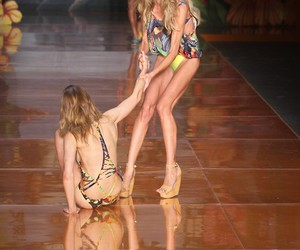 bikini, catwalk, and colours image