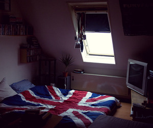 bed, bedroom, and nice image