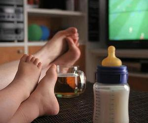 baby, milk, and football image