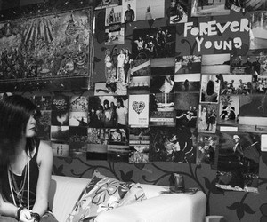 bedroom, girl, and Forever Young image