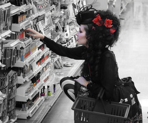 goth, gothic, and hair image
