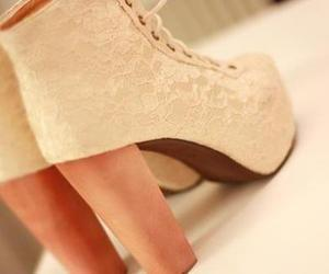 shoes, heels, and lace image