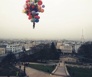 paris, balloons, and city image