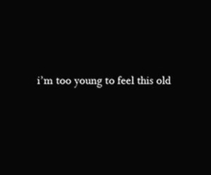 quote, old, and young image