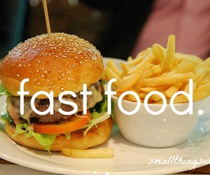 delicious and fast food image